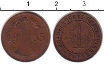 Изображение Монеты Веймарская республика 1 пфенниг 1935 Бронза XF G