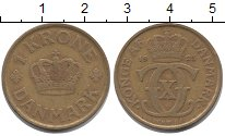 Изображение Монеты Дания 1 крона 1925 Латунь XF