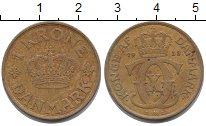 Изображение Монеты Дания 1 крона 1938 Латунь XF
