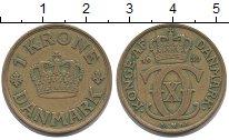 Изображение Монеты Дания 1 крона 1939 Латунь XF