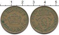 Изображение Монеты Дания 1 крона 1941 Латунь XF