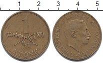 Изображение Монеты Дания 1 крона 1943 Латунь XF
