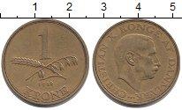 Изображение Монеты Дания 1 крона 1942 Латунь XF