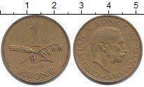 Изображение Монеты Дания 1 крона 1944 Латунь XF