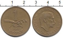 Изображение Монеты Дания 1 крона 1946 Латунь XF
