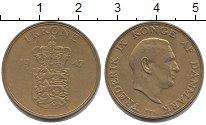 Изображение Монеты Дания 1 крона 1947 Латунь XF
