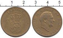 Изображение Монеты Дания 1 крона 1949 Латунь XF