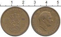 Изображение Монеты Дания 1 крона 1952 Латунь XF