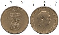 Изображение Монеты Дания 1 крона 1955 Латунь XF