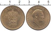 Изображение Монеты Дания 1 крона 1956 Латунь UNC-
