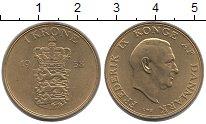 Изображение Монеты Дания 1 крона 1958 Латунь UNC-