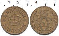 Изображение Монеты Дания 2 кроны 1939 Латунь XF