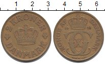 Изображение Монеты Дания 2 кроны 1925 Латунь XF