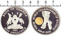 Изображение Монеты Уганда 1000 шиллингов 2001 Серебро Proof