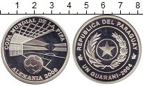 Изображение Монеты Парагвай 1 гарани 2004 Серебро Proof