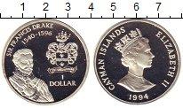 Изображение Монеты Каймановы острова 1 доллар 1994 Серебро Proof Сэр  Френсис  Дрейк.