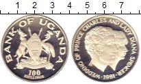 Изображение Монеты Уганда 100 шиллингов 1981 Серебро Proof