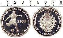 Изображение Монеты Уругвай 1.000 песо 2003 Серебро Proof Чемпионат  мира  по
