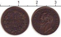 Изображение Монеты Италия 1 сентесимо 1861 Бронза XF