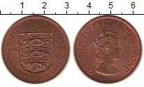 Изображение Монеты Остров Джерси 1/12 шиллинга 1966 Бронза UNC- Елизавета II.  900 -