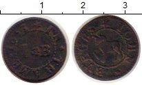 Изображение Монеты Великобритания 1 фартинг 1653 Медь VF