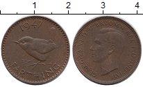 Изображение Монеты Великобритания 1 фартинг 1947 Бронза XF