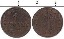 Изображение Монеты Гессен-Дармштадт 1 пфенниг 1860 Медь VF Людвиг III
