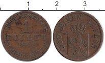 Изображение Монеты Гессен-Кассель 1 геллер 1843 Медь VF