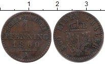 Изображение Монеты Германия Пруссия 1 пфенниг 1860 Медь VF