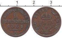 Изображение Монеты Германия Пруссия 1 пфенниг 1869 Медь XF