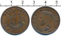 Изображение Монеты Великобритания 1/2 пенни 1946 Бронза XF