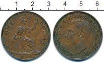 Изображение Монеты Великобритания 1 пенни 1939 Бронза XF