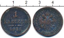 Изображение Монеты Австрия 1 крейцер 1851 Бронза VF