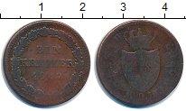 Изображение Монеты Нассау 1 крейцер 1842 Медь F Адольф