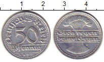 Изображение Монеты Веймарская республика 50 пфеннигов 1922 Алюминий XF D
