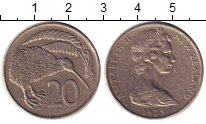 Изображение Монеты Новая Зеландия 20 центов 1979 Медно-никель XF