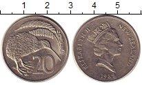 Изображение Монеты Новая Зеландия 20 центов 1989 Медно-никель XF