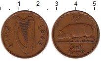 Изображение Монеты Ирландия 1/2 пенса 1942 Медь XF