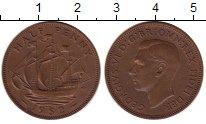 Изображение Монеты Великобритания 1/2 пенни 1952 Медь XF