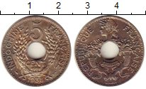 Изображение Монеты Индокитай 5 центов 1938 Медно-никель XF