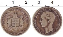 Изображение Монеты Греция 1 драхма 1874 Серебро VF Георгиос I.