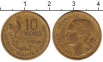 Изображение Монеты Франция 10 франков 1951 Медь XF
