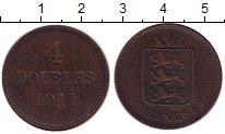 Изображение Монеты Великобритания Гернси 4 дубля 1911 Медь XF