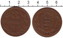 Изображение Монеты Гернси 8 дублей 1949 Медь XF /