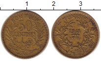 Изображение Монеты Тунис 50 сантим 1941 Медь XF Протекторат  Франции