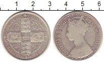 Изображение Монеты Великобритания 1 флорин 1853 Серебро VF Королева  Виктория.