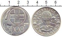 Изображение Монеты Сан-Марино 5000 лир 1998 Серебро UNC