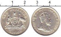 Изображение Монеты Австралия 1 шиллинг 1910 Серебро XF Эдуард  VII.