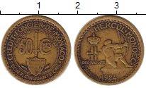 Изображение Монеты Монако 50 сентим 1924 Медь XF
