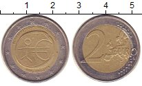 Изображение Монеты Германия 2 евро 2009 Биметалл XF 10 лет евро